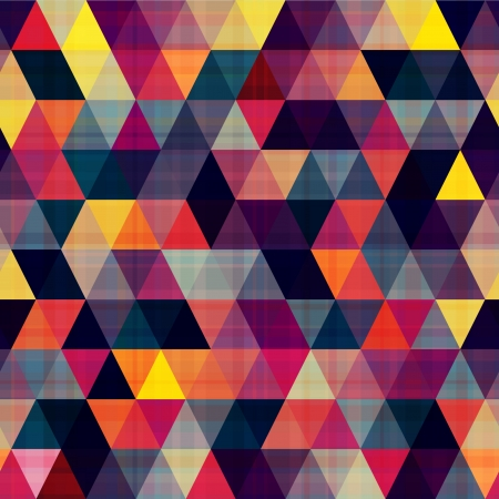 mosaic pattern: seamless triangle background texture