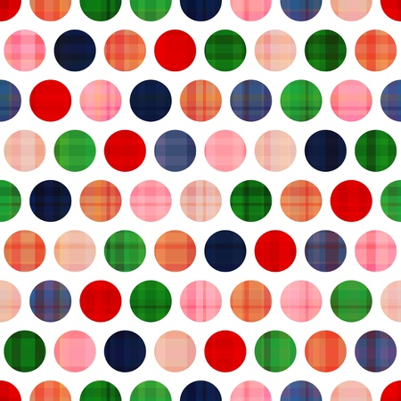 red spot: seamless circles background texture  Illustration