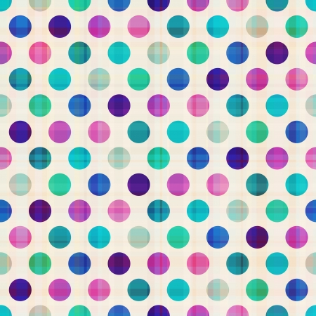 polka dots: seamless circles background texture  Illustration