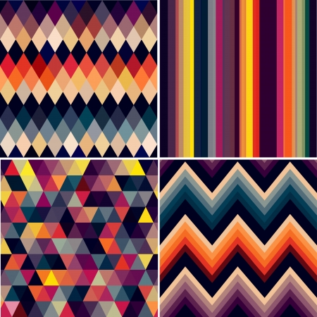 colorful seamless argyle and geometric pattern Vector