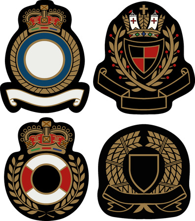 aristocracy: royal emblem badge shield  Illustration