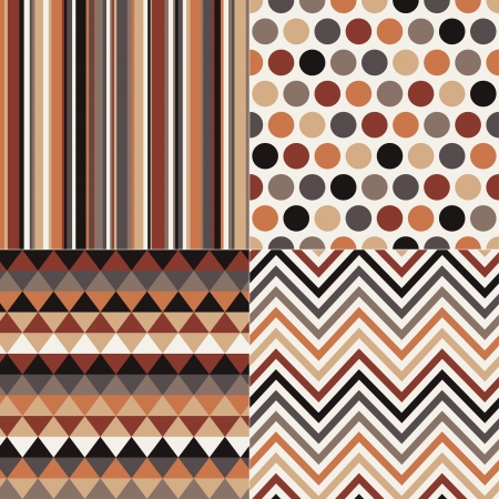 taupe: seamless geometric brown pattern  Illustration