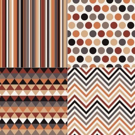 rhombus: seamless geometric brown pattern  Illustration