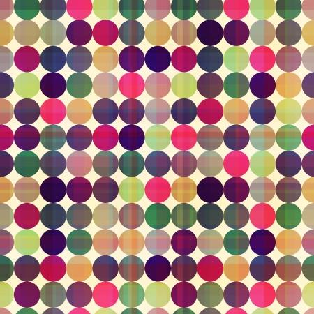 fuchsia: seamless circles background texture  Illustration