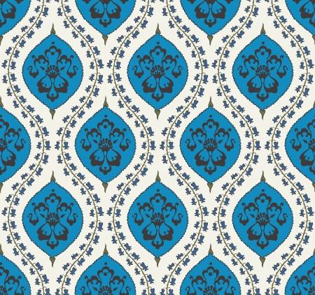 원활한 이슬람 꽃 패턴 일러스트