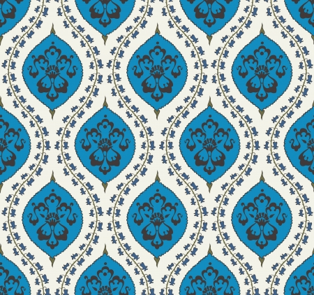 eastern religion: seamless islamic floral pattern