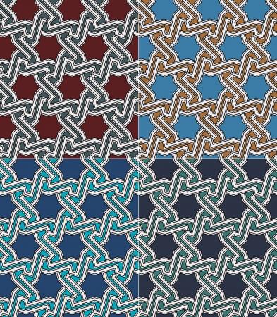 seamless islamic geometric star pattern Stock Vector - 22552392