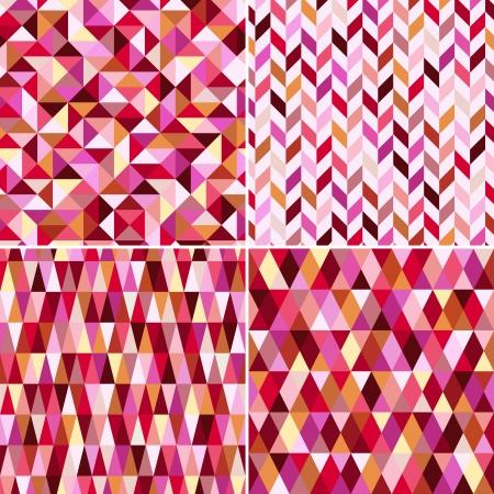 삼각형: 원활한 기하학적 인 핑크 패턴 일러스트