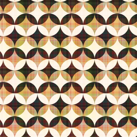 seamless abstract geometric circle pattern Vector