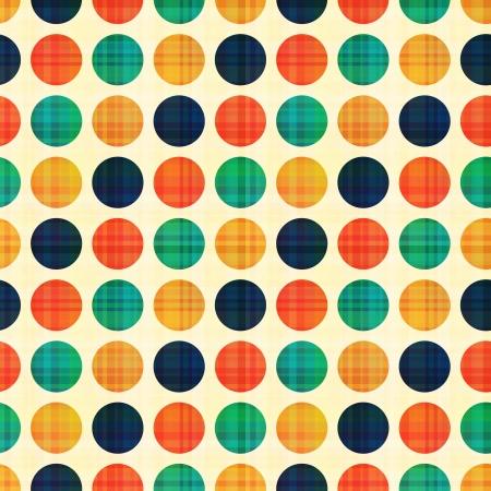 シームレスな抽象的なポルカドット パターン