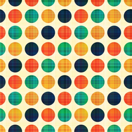 seamless abstract polka dots pattern Vector