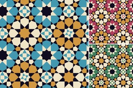 naadloze islamitisch geometrisch patroon Stock Illustratie