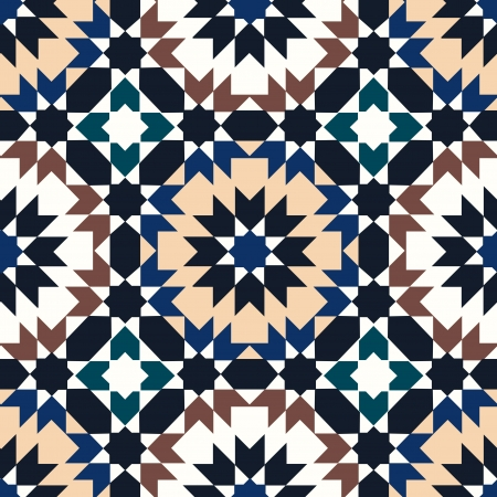 seamless islamic geometric pattern Vector