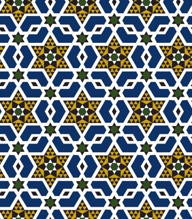 seamless islamic geometric pattern Illustration