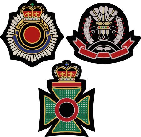 aristocracy: royal emblem badge shield  Illustration