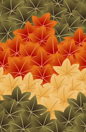 japanese style maple leaf seamless pattern
