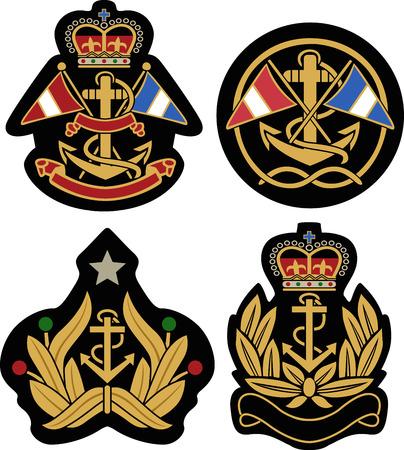 sails: classic nautical royal emblem badge shield
