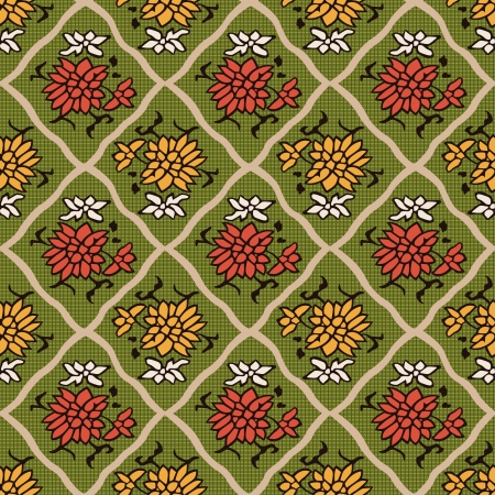 seamless chinese style floral pattern Stock Vector - 23303085