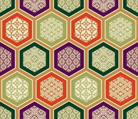 naadloze traditionele Japanse patroon Stock Illustratie