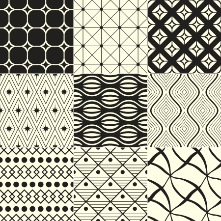 abstract geometric black and white background