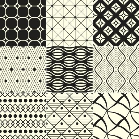 fond abstrait g�om�trique noir et blanc Illustration