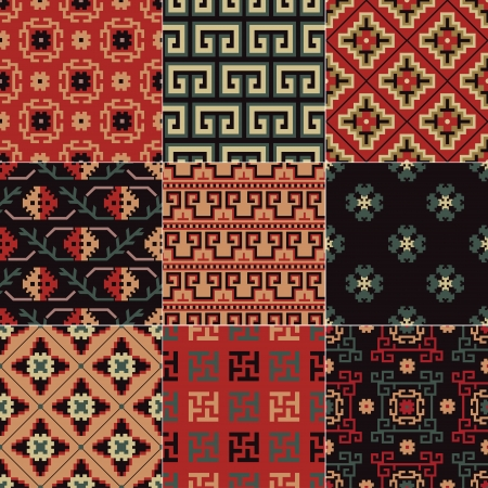 seamless Chinese Turkestan pattern Vector