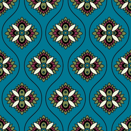 seamless floral paisley ornament pattern Vector