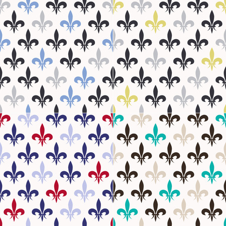 seamless fleur de lis pattern  Illustration