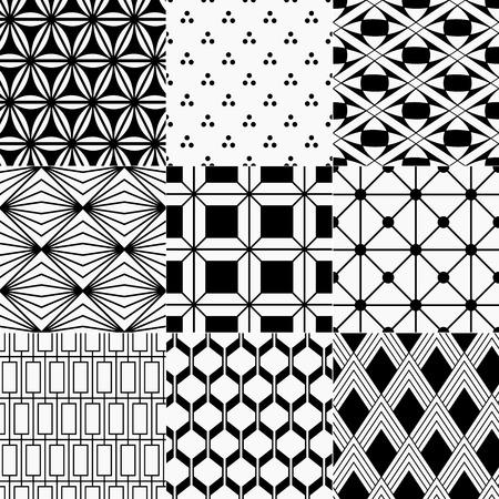 repeatable: seamless monochrome geometric pattern  Illustration