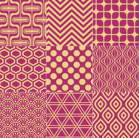 seamless fuchsia gold pattern Stock Vector - 23558575