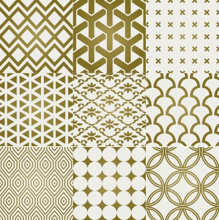 naadloze gouden patroon