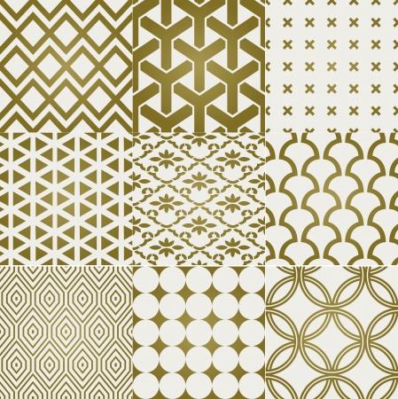dekorativa mönster: sömlös guld mönster