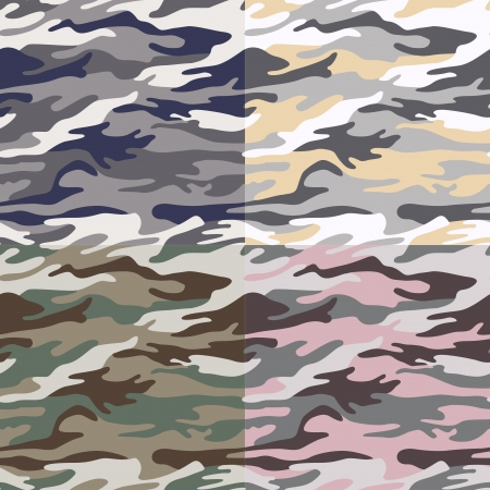to conceal: camouflage seamless pattern