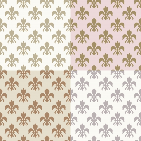 lys: seamless gold fleur de lys pattern  Illustration