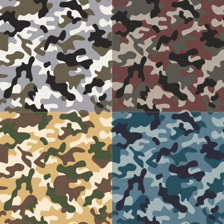 color conceal: camouflage seamless pattern