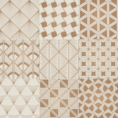 seamless bronze geometric pattern Vector