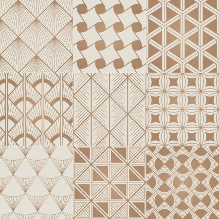 quadrant: seamless bronze geometric pattern Illustration