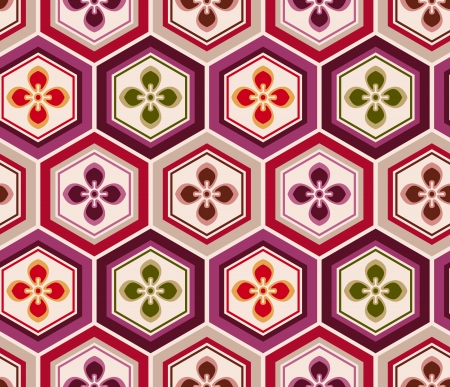 traditon: seamless japanese floral pattern  Illustration