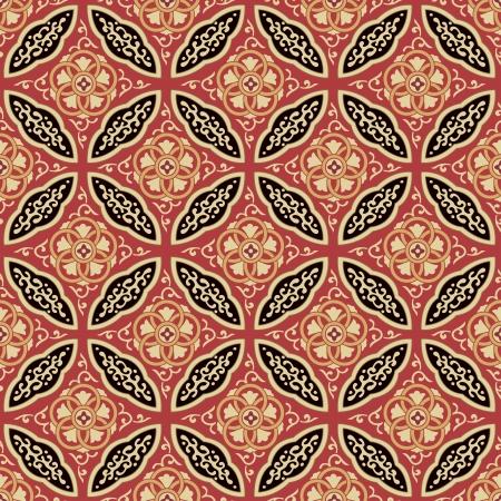 print: Nahtlose japanische Muster ineinander Illustration