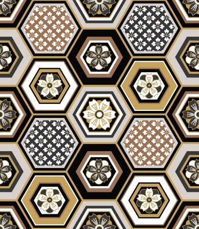 pattern: Naadloze Japanse elkaar grijpende patroon