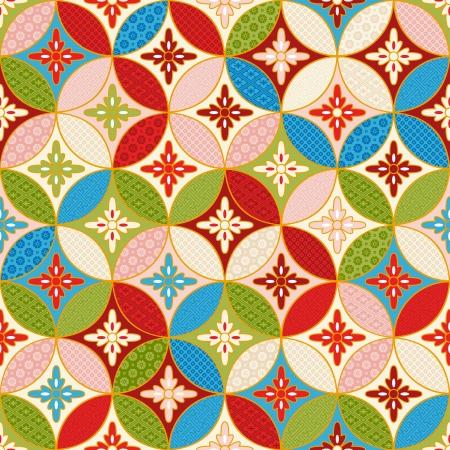 naadloze japanse elkaar grijpende patroon Stock Illustratie