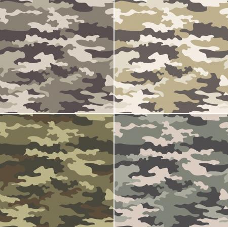 迷彩のシームレスなパターン