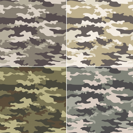 camouflage naadloze patroon Stock Illustratie