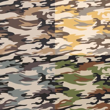 camuflaje patrón transparente Ilustración de vector