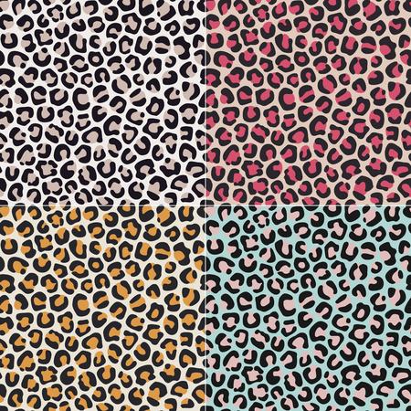seamless leopard cheetah animal skin pattern  Vector
