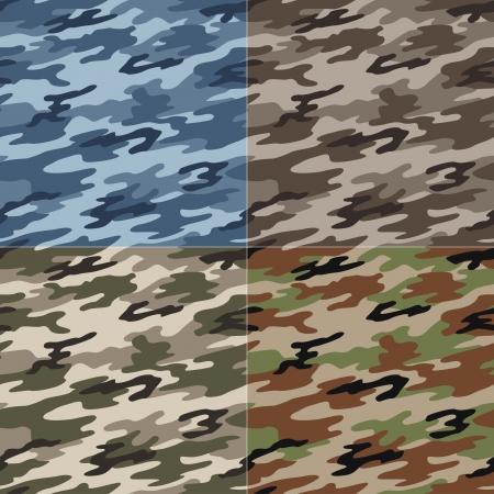 patrón de camuflaje sin fisuras