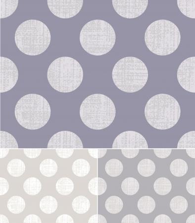 seamless polka dots grey pattern  Vector