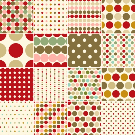 seamless christmas polka dots pattern Stock Vector - 24023653