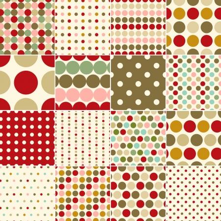 seamless christmas polka dots pattern Stock Vector - 24023653