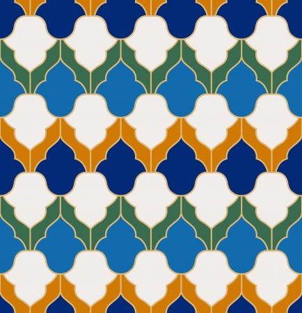 Naadloze: naadloze islamitisch geometrisch patroon Stock Illustratie